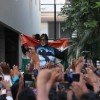 Amitabh Bachchan celebrates India's World Cup win over Pakistan with fans