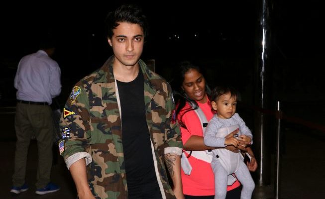 Arpita Khan With Her Husband Ayush Sharma Son And Mother In Law At